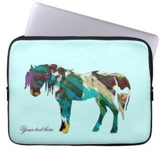 Aqua Pony Laptop Sleeve