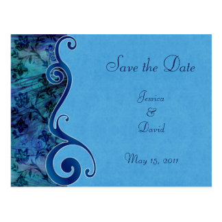 Aqua Puau Shell Wedding Save the Date Postcard