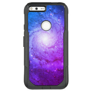 Aqua Purple Spiral Galaxy M74 OtterBox Commuter Google Pixel XL Case