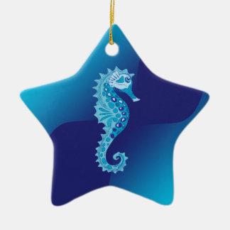 Aqua Seahorse Ornaments