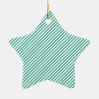 Aqua Stripes Christmas Ornament