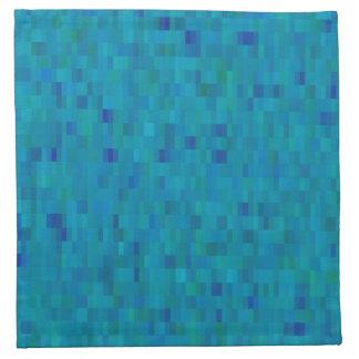 Aqua tiles modern pattern napkin
