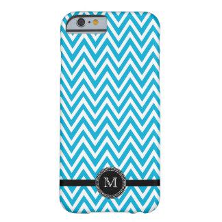 Aqua white chevron monogram iPhone 6 case Barely There iPhone 6 Case