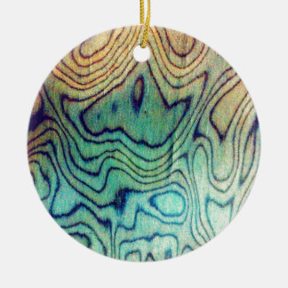 Aqua Wood Christmas Ornament