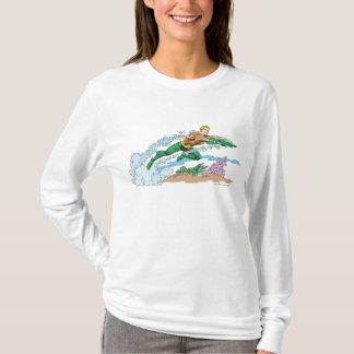 Aquaman Leaps Over Coral T-Shirt