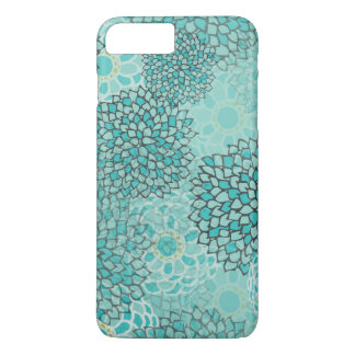 Aquamarine and Mint Flower Burst Design iPhone 8 Plus/7 Plus Case