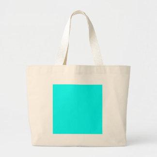 Aquamarine Blue  Elegant Fashion Color Tote Bags