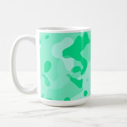 Aquamarine Camo; Camouflage Mugs