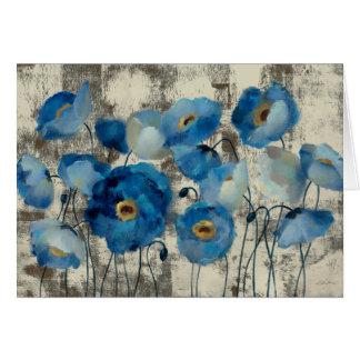 Aquamarine Floral Card