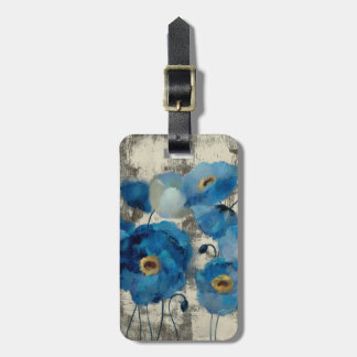 Aquamarine Floral Luggage Tag