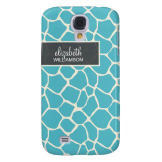 Aquamarine Giraffe Pern Galaxy S4 Case