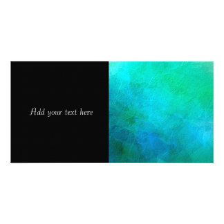 Aquamarine Green Blue Ice Abstract Art Picture Card