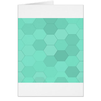 Aquamarine Hexagons Card