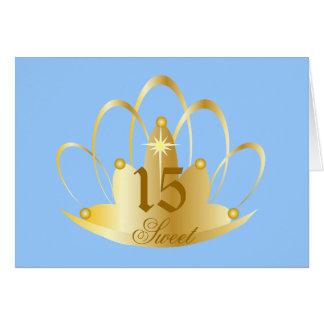 Aquamarine Sweet Fifteen Tiara-Customize Card