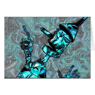 Aquamarine Tin Man Card