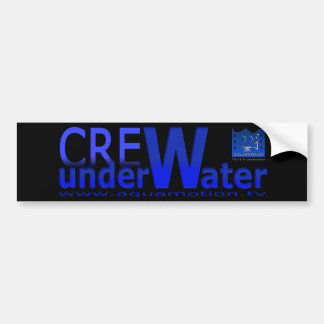aquamotion film tv CREW sticker Bumper Sticker