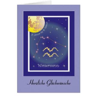 Aquarius 21 January until 18 February map Card