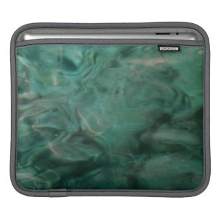 Aquatic abstract in turquoise and grey iPad sleeve