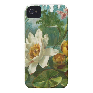 Aquatic Flower iPhone 4 Case-Mate Case