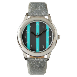 Aquatic Pinstriped Wrist Watches
