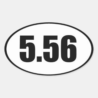 ar15 5.56 oval sticker
