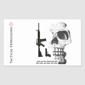 AR15 92FS with Skull Rectangular Sticker