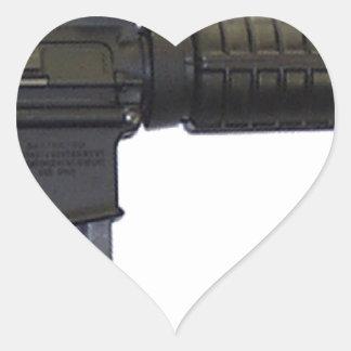 ar15 heart sticker
