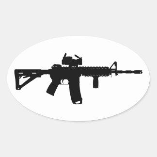 ar15 oval sticker