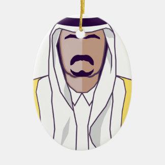 Arab Prince vector Christmas Ornament