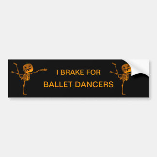 Arabesque Ballet Position Bumper Sticker