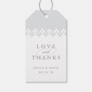 Arabesque Wedding Favor Tags | Gray
