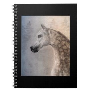 Arabian Horse Spiral Photo Notebook