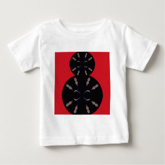 Arabic elements black on red baby T-Shirt