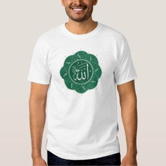 Arabic Muslim Calligraphy Saying Allah T Shirt