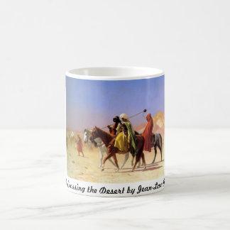 Arabs Crossing the Desert by Jean-Leon Gerome Coffee Mug