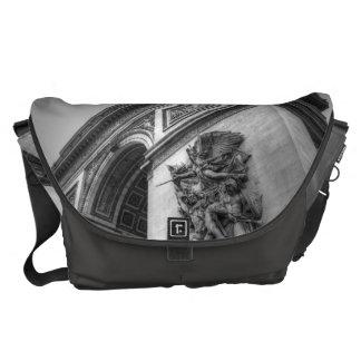 Arc de Triomphe b/w Messenger Bag