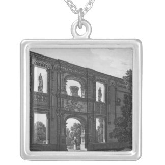 Arch of Gaillon, Musee des Monuments Francais Silver Plated Necklace