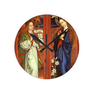 Archangel Gabriel - Annunciation - Schongauer Round Clock