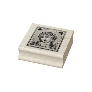 Archangel Gabriel Rubber Stamp