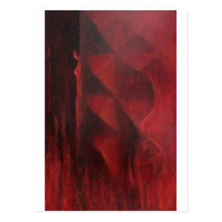 Arche red design by adrian dica painting postcard