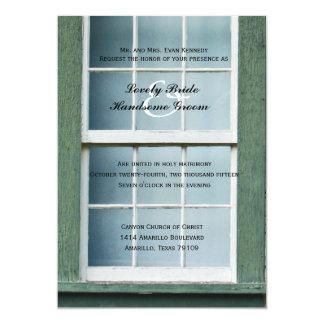 Arched Church Window Christian Wedding Invitation