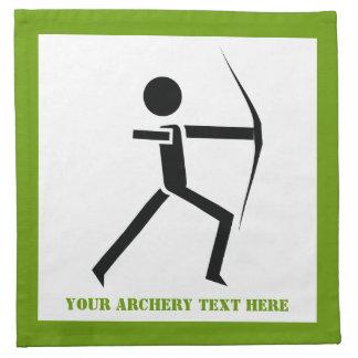 Archer with his bow black, green archery custom napkin