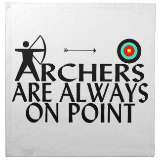 Archers Are Always On Point Napkin