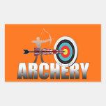 Archery London Target Archers artwork Rectangular Stickers