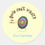 Archery Target Bullseye Round Sticker