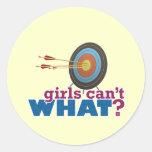 Archery Target Round Stickers
