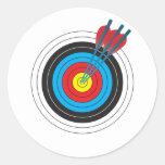 Archery Target with Arrows Sticker