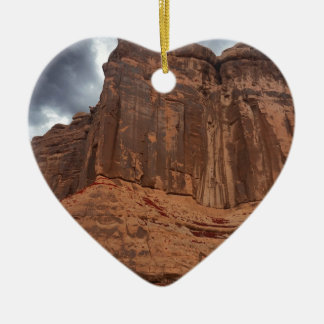 Arches National Park The Organ Ceramic Heart Decoration