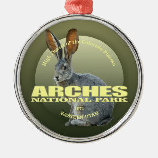 Arches NP (Jackrabbit) WT Silver-Colored Round Decoration