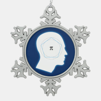 Archimedes' Approximation of Pi | Geek Snowflake Pewter Christmas Ornament